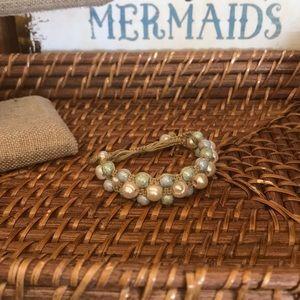 Jewelry - Handmade Jewelry 2/$15! Triple Shamballa Bracelet!